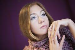 Femme avec le long cheveu Photo libre de droits