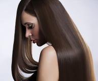 Femme avec le long cheveu Image libre de droits