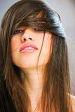 Femme avec le long cheveu photographie stock