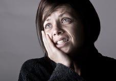 Femme avec le mal de dents. Aïe ! photographie stock