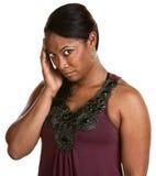 Femme avec le mal de tête Photos libres de droits