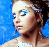Femme avec le maquillage Photographie stock