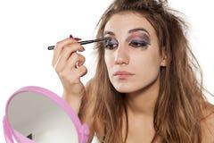 Femme avec le maquillage laid images libres de droits