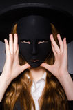 Femme avec le masque Images libres de droits