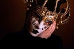 Femme avec le masque de Venise Photographie stock