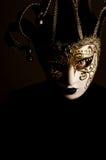 Femme avec le masque de Venise Photographie stock libre de droits