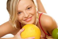 Femme avec le melon Photo libre de droits