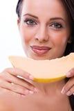 Femme avec le melon Photographie stock libre de droits