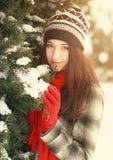 Femme avec le patin de glace photo stock
