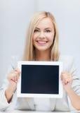 Femme avec le PC de comprimé Photographie stock libre de droits