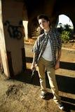 Femme avec le pistolet Photographie stock libre de droits