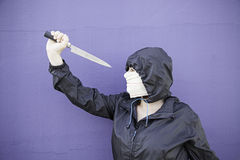 Femme avec le poignard Photo stock