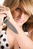 Femme avec le poignard Image libre de droits