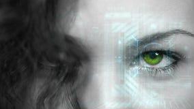 Femme avec le recouvrement de technologie illustration libre de droits