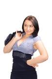 Femme avec le sac à main Photographie stock