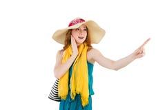 Femme avec le sac Photographie stock libre de droits