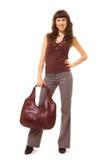 Femme avec le sac Photographie stock