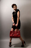 Femme avec le sac à main Photographie stock libre de droits