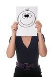 Femme avec le sourire heureux Image stock