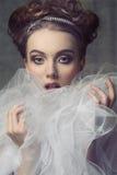 Femme avec le style romantique aristocratique images libres de droits