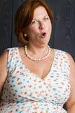 Femme avec le suprice photographie stock libre de droits