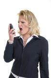 Femme avec le téléphone Images stock