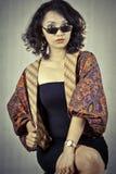 Femme avec le vêtement Indonésie traditionnelle 3 Image stock