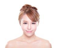 Femme avec le visage de beauté et la peau parfaite Images libres de droits