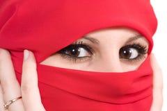 Femme avec le voile Image stock