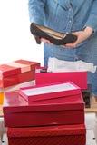 Femme avec les chaussures noires Photographie stock libre de droits