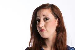 Femme avec les cheveux rouges Images stock