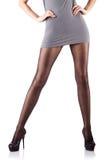 Femme avec les pattes grandes Image libre de droits
