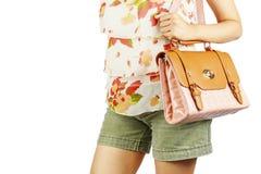 Femme avec les sacs de luxe. Images libres de droits
