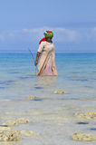 Femme avec les vêtements colorés Images libres de droits