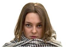 Femme avec les yeux verts Images stock