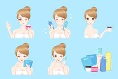 Femme avec soins de la peau Photos stock