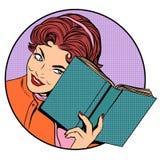 Femme avec un livre illustration libre de droits