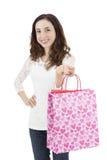 Femme avec un sac à provisions Photos stock