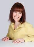 Femme avec un sourire Photographie stock libre de droits