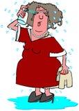 Femme ayant une bouffée de chaleur illustration libre de droits
