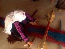Femme bédouine dans le désert de Nagev, Israël Image libre de droits