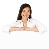 femme blanche de panneau-réclame Photographie stock