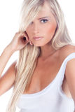 Femme blond Photos stock