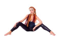 Femme blond photo stock