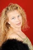 Femme blond avec des œil bleu Photographie stock libre de droits