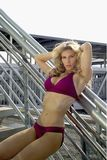 Femme blond sexy dans le bikini Photos stock