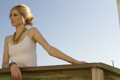 Femme blonde Images stock