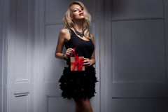 Femme blonde Photo stock