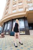 Femme blonde d'affaires Photographie stock libre de droits