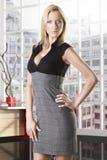 Femme blonde d'affaires pleine-lenght Photo stock